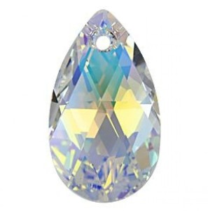6106 Swarovski Migdał 22mm Pear-shaped Crystal AB