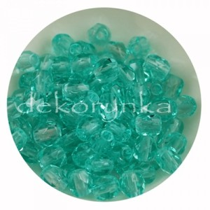 Fire Polish 4mm - koraliki czeskie szlifowane #60110 Light Teal