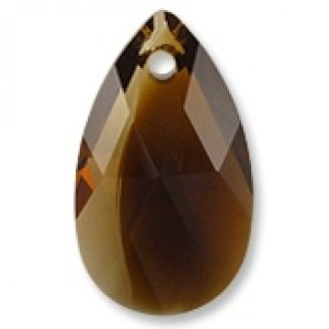 6106 Swarovski Migdał 22mm Pear-shaped Topaz Blend