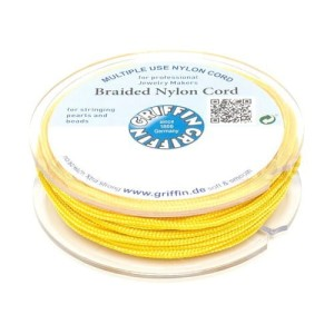 Griffin BRAIDED NYLON CORDS Sznurek nylonowy pleciony 0.3mm 25m - Yellow