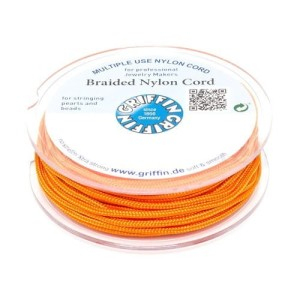 Griffin BRAIDED NYLON CORDS Sznurek nylonowy pleciony 0.3mm 25m - Orange