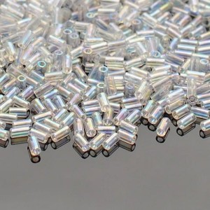 Koraliki TOHO Bugle 3mm 10g #161 Transparent-Rainbow Crystal