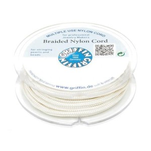 Griffin BRAIDED NYLON CORDS Sznurek nylonowy pleciony 0.5mm 25m - Cream