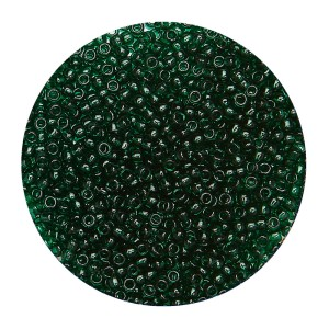 Koraliki TOHO Round 15/0 10g #939 Transparent Green Emerald