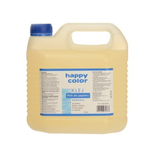 HAPPY COLOR Klej PVA do papieru gluty SLIME bezbarwny 3000g